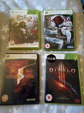 Xbox 360 Games Bundle X4, Bayonetta, CASTLEVANIA 2, Resident Evil 5 & Diablo 3.