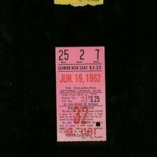 6-19-1962 Chicago Cubs @ Philadelphia Phillies Baseball MLB Ticket