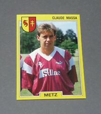 N°125 CLAUDE MASSA FC METZ LORRAINE GRENATS PANINI FOOTBALL FOOT 92 1991-1992