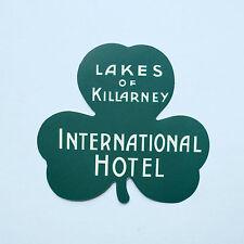 "Ireland Travel Lakes of Killarney Hotel Vintage retro 3"" luggage label sticker"