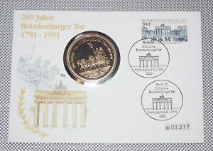 Numisbrief 200 Jahre Brandenburger Tor 1991
