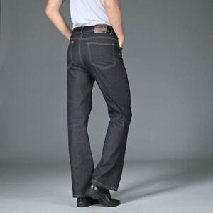 Men Bell Bottom Jeans Vintage 60s 70s Flared Denim Pants Slim Fit Trousers