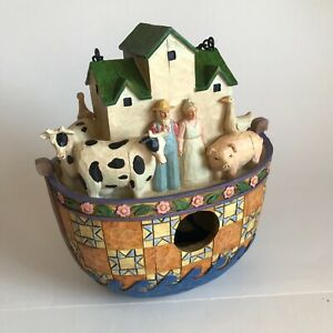 """2005 8"""" Jim Shore Noah's Ark Bird House C4005188 Enesco Heartwood Creek"""