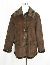 Mackintosh New England Espresso Brown Faux Suede/Fur Lined Coat Women's XL