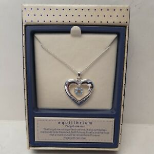 St Ann's Hospice Forget-Me-Not Heart Silver Plated Necklace