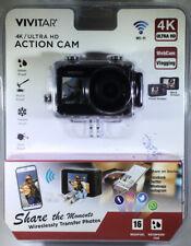 Vivitar 4K Ultra Action Cam 16MP DVR922HD-BLK Sealed w/ Mounts