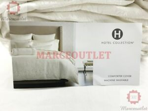 Hotel Collection Plume KING Duvet Cover Off White