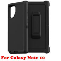Black For Samsung Galaxy Note 10 Case Cover (Belt Clip Fits Otterbox Defender)