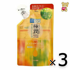 ☀[3pack set]Rohto Hadalabo Hada labo Gokujyun Oil cleansing Refill 180mL Japan