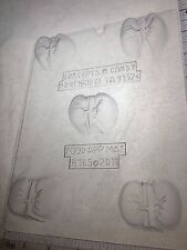 KIDNEY GUTS BODY PARTS CLEAR PLASTIC CHOCOLATE CANDY MOLD H165