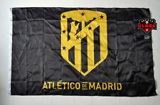 Atletico Madrid Flag Banner 3x5 Spain Futbol Soccer Bandera Black Gold Premium