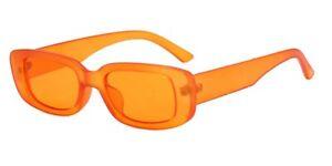 Y2K Retro Vintage Fashion Rectangle Square Sunglasses Shades Women Ladies UV400