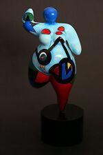 Hommage an Niki de Saint Phalle Skulptur - Dicke Frau Dolly XL Pop-Art á la Miró