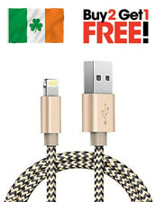 Gold USB Data Sync Fast Charger Cable Braided For Apple iPhone 6 5 7 SE iPad Air