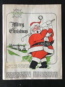 1966 DEC GOLF WORLD MAGAZINE MERRY CHRISTMAS VINTAGE ORIGINAL RARE!! NICE 11719