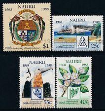 1988 NAURU INDEPENDENCE 20th ANNIVERSARY SET OF 4 FINE USED/CTO