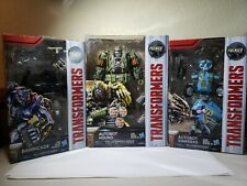 Transformers The Last Knight Set of Hound, Barricade, & Sqweeks Premiere Edition