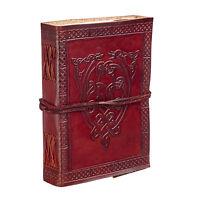 Fair Trade Handmade Celtic Serpent Leather Journal Notebook Diary