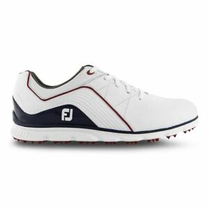Footjoy Mens Pro SL Golf Shoes 2019 - 53269 - White/Navy/Red