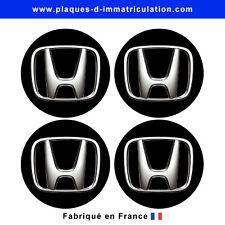 sticker Honda noir pour cache moyeu de jante (lot de 4)