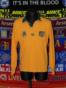 5/5 Australia Wallabies adults L 1991 retro rugby union shirt jersey trikot