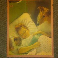 "Vintage 20's Print Collie ""All's Well"" Gerlach Barklow 13 1/4x 10 1/4"""