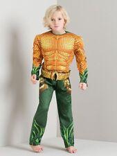 George Aquaman Boys Padded Fancy Dress Outfit Costume Aqua Man World Book Day