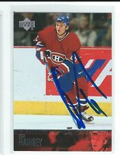 Ron Hainsey Signed 2003/04 Upper Deck Card #105