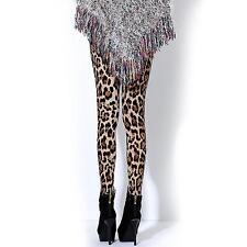 Women's Chic Sexy Leopard Pattern Trousers Slim Nine Pants Breathable Leggings