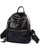 PU Leather Designer Mini Backpack Purse Handbag for Women and Girls Black V2