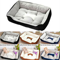 Large Pet Dog Cat Bed Puppy Cushion House Pets Nest Soft Warm Kennel Mat Blanket