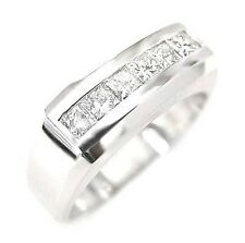 1CT PLATINUM MEN DIAMOND RING WEDDING ANNIVERSARY MEN'S