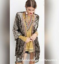 COWGIRL GYPSY Velvet Duster Kimono Cardigan Western BOHO  small