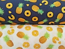 PINEAPPLE FRUIT DESIGN by Rose & Hubble - 100% COTTON POPLIN FABRIC