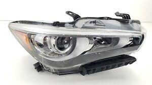 14-17 INFINITI Q50 PASSENGER RIGHT FRONT LED HEADLIGHT LAMP NON ADAPTIVE OEM