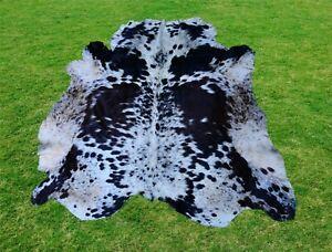 Large Cowhide Rug -Animal Skin Rug Skin Rug Cowhide Carpet Leather Rug 5.5 x 5.0