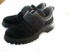 PRADA Black Suede Vibram Soles Booties  Sneakers Shoes 36