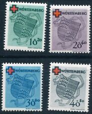 WURTTEMBERG GERMANY FRENCH ZONE Mi. #40A-43A mint MNH stamp set! CV $192.50