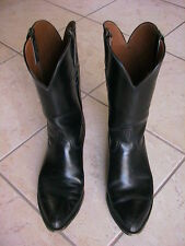 Original Owner Vintage Classic Lucchese Black Cowboy Boots