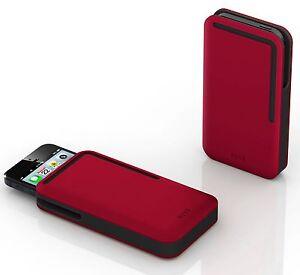 DOSH - SYNCRO Velour compact men's designer iPhone 5/5S wallet / case / sleeve