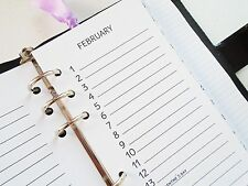 personal size planner inserts perpetual calendar  - filofax day-timer kikki k