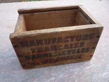 Boite en bois Manufacture Française,Armes et Cycle,Saint Etienne,MF,Manufrance