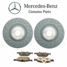 For Mercedes W166 X166 C292 Set of Two Front Brake Disc Rotor w/ Brake Pads OES