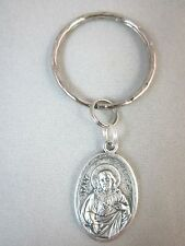 Sacred Heart of Jesus / Chalice Medal Italy Key Ring  First Communion
