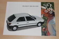 00260) Peugeot 306 XN XND Prospekt 12/1993