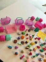 Shopkins Cases Baskets Bins Figures Huge Lot #1  FREE SHIPPING   SKU 036-43