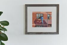Vintage Original Framed Colour Pencil Drawing by Ken Watts