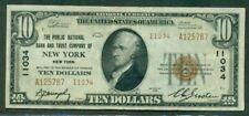 $10.00 NBN, Public NB NEW YORK, NY, 1929, Fr. #1801-2, crisp AU+