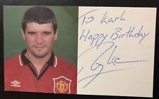 Rare Roy Keane Signed Man Utd Club Card / Manchester / Promo Photo Card 94 - 96