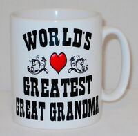 World's Greatest Great Grandma Mug Can Personalise Great Mothers Day Gran Gift